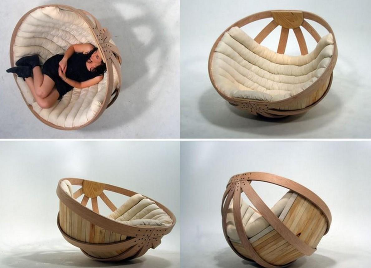 Poltrona di design con forma sferica