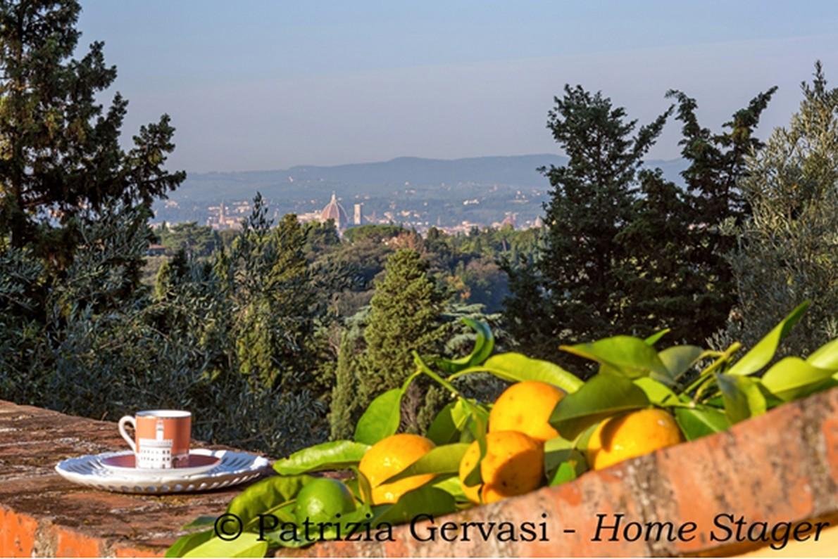 Panorama su Firenze dalla villa