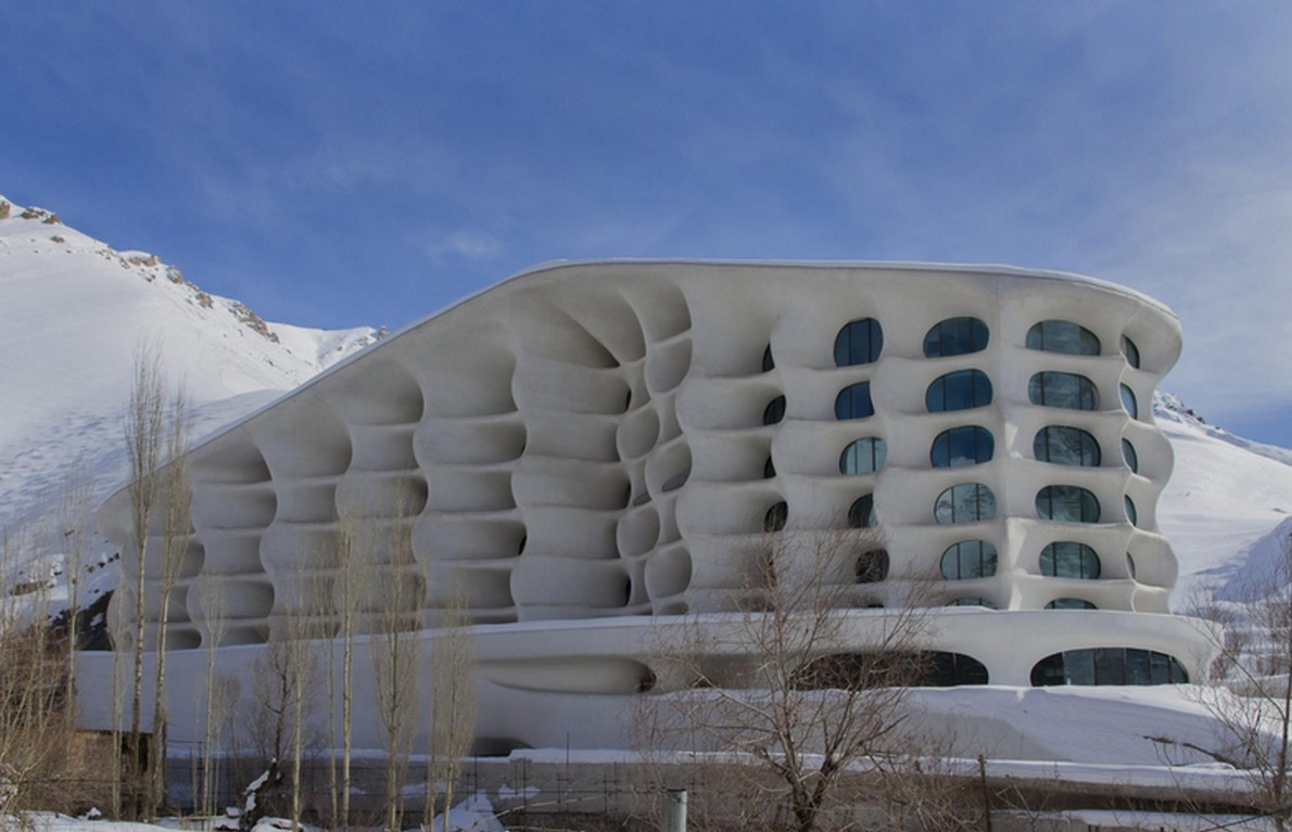 La facciata dell'hotel di design
