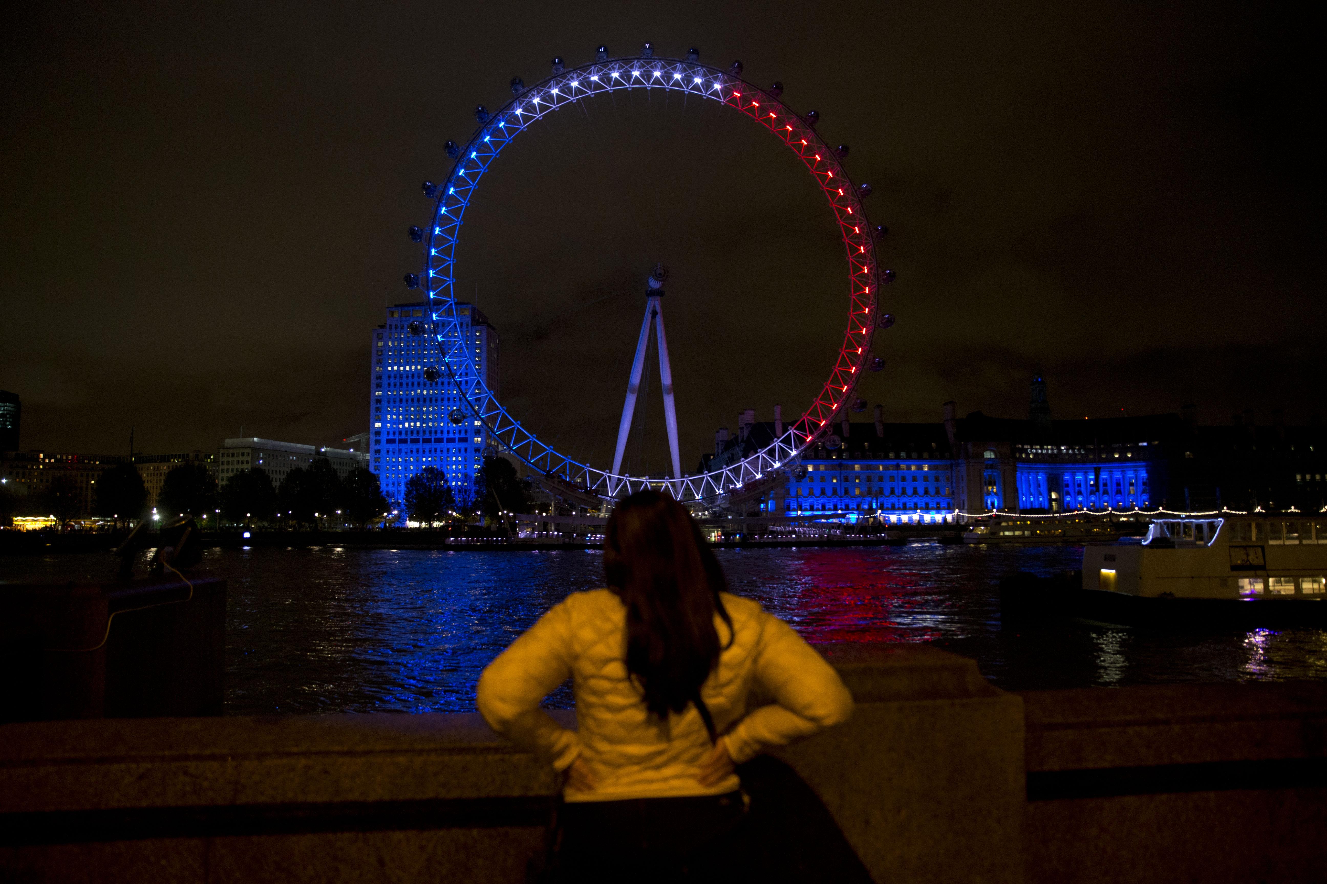 Il London Eye rende omaggio alla Francia