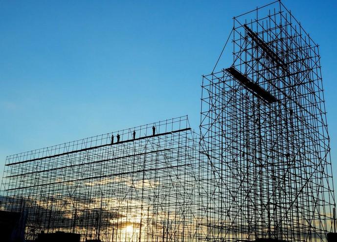 Scheletro di un edificio in costruzione