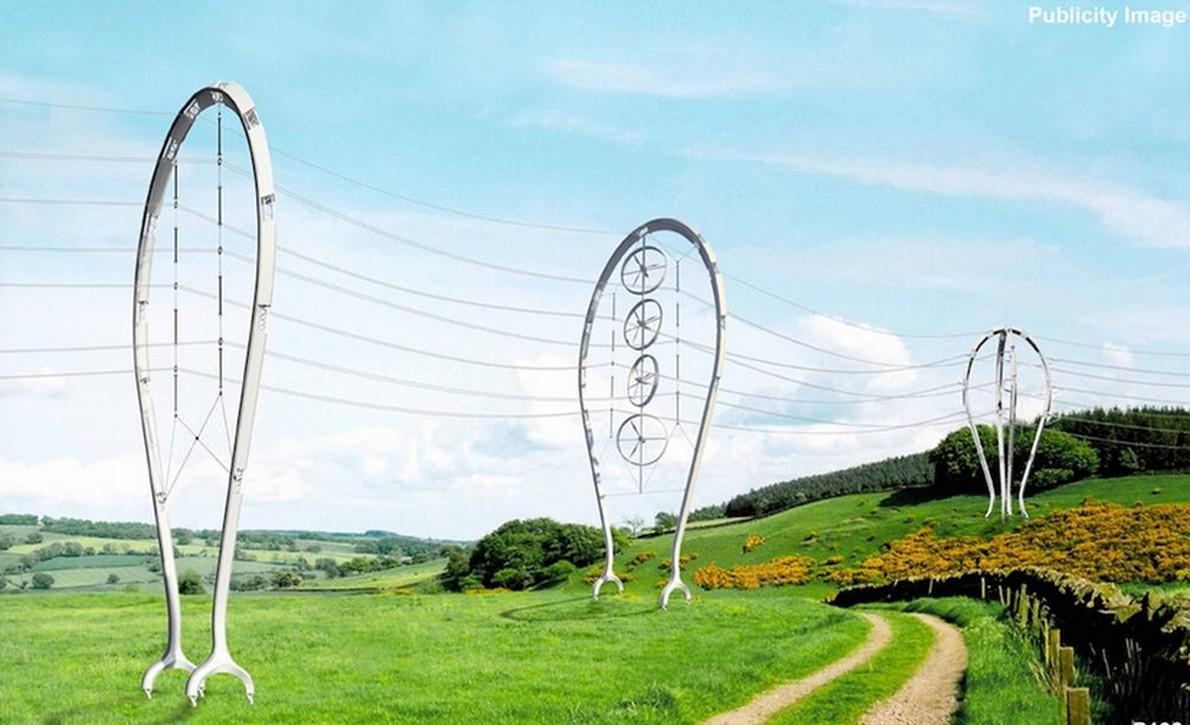 Cavi dell'alta tensione trasformati in opere di arte contemporanea