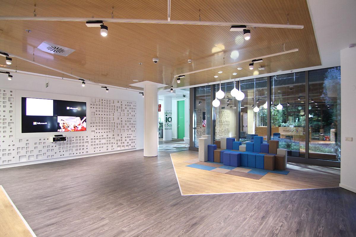 Gli uffici di Microsoft a Madrid