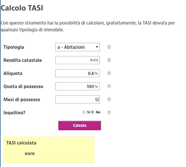 Calcolo tasse acquisto prima casa trendy spese per for Acquisto seconda casa tasse