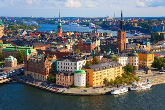 Una foto della città di Stoccolma in Svezia