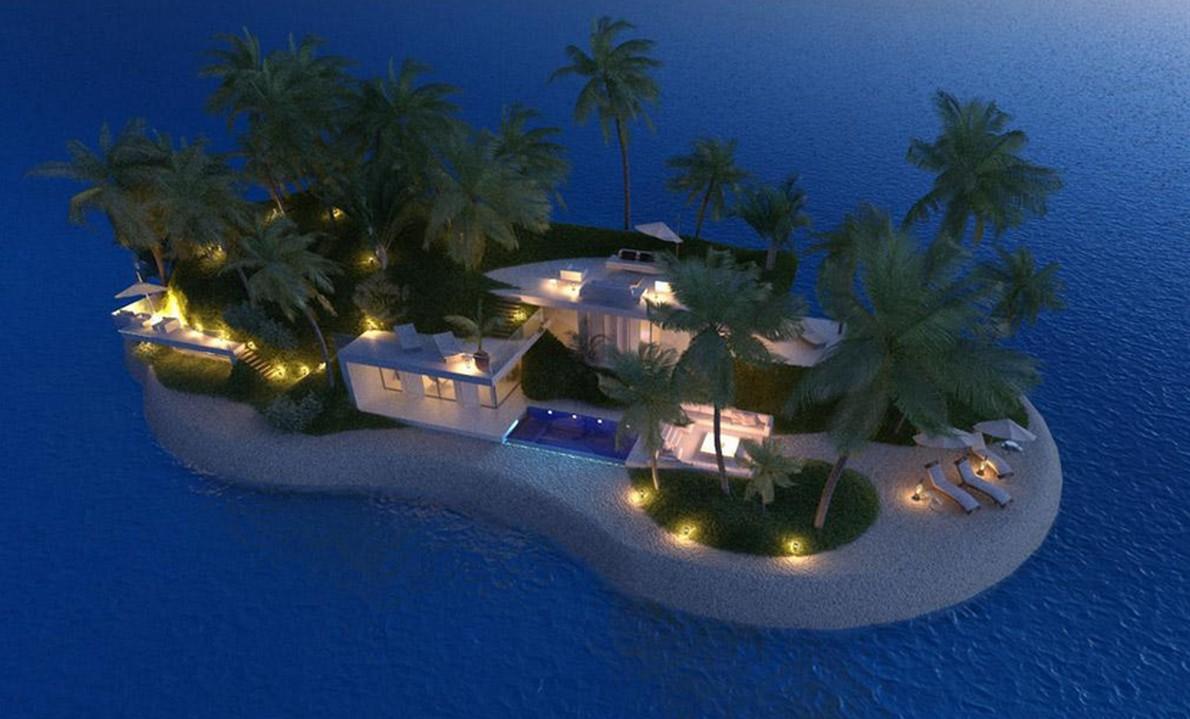 Una casa di lusso galleggiante