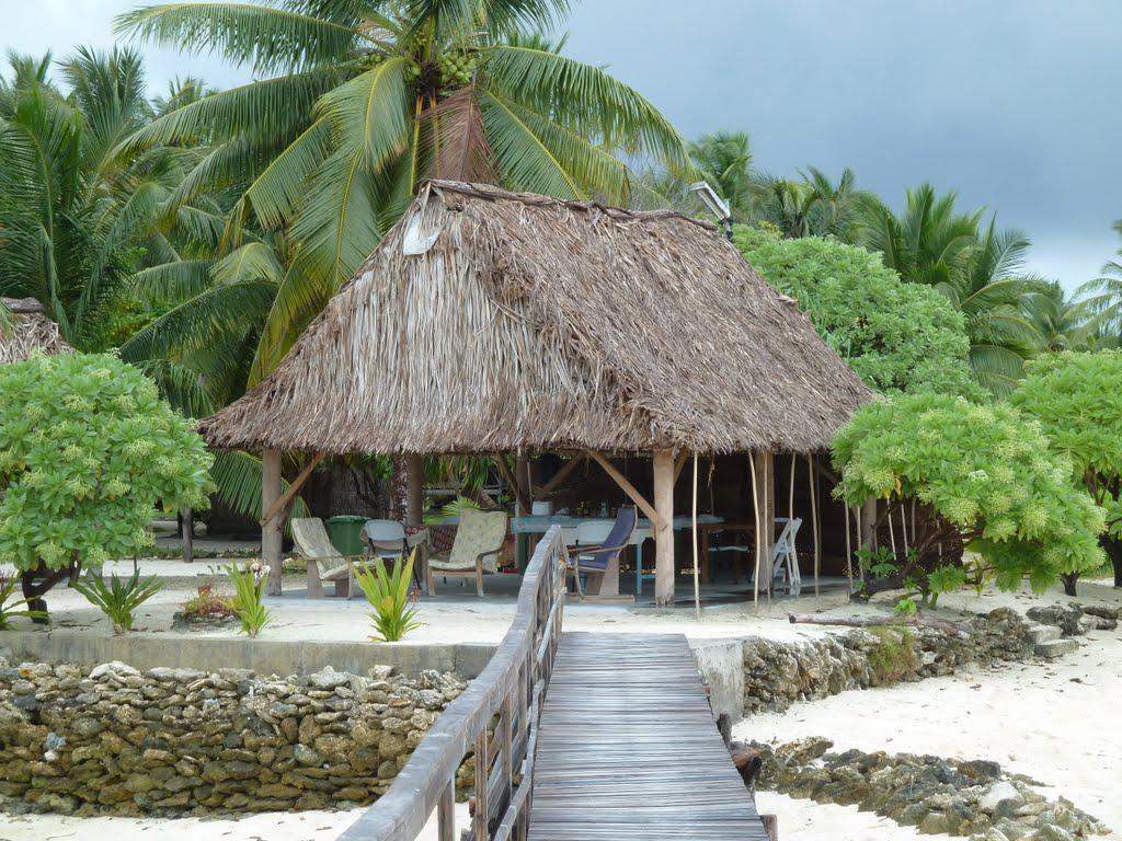 L'hotel nell'atollo sul Pacifico