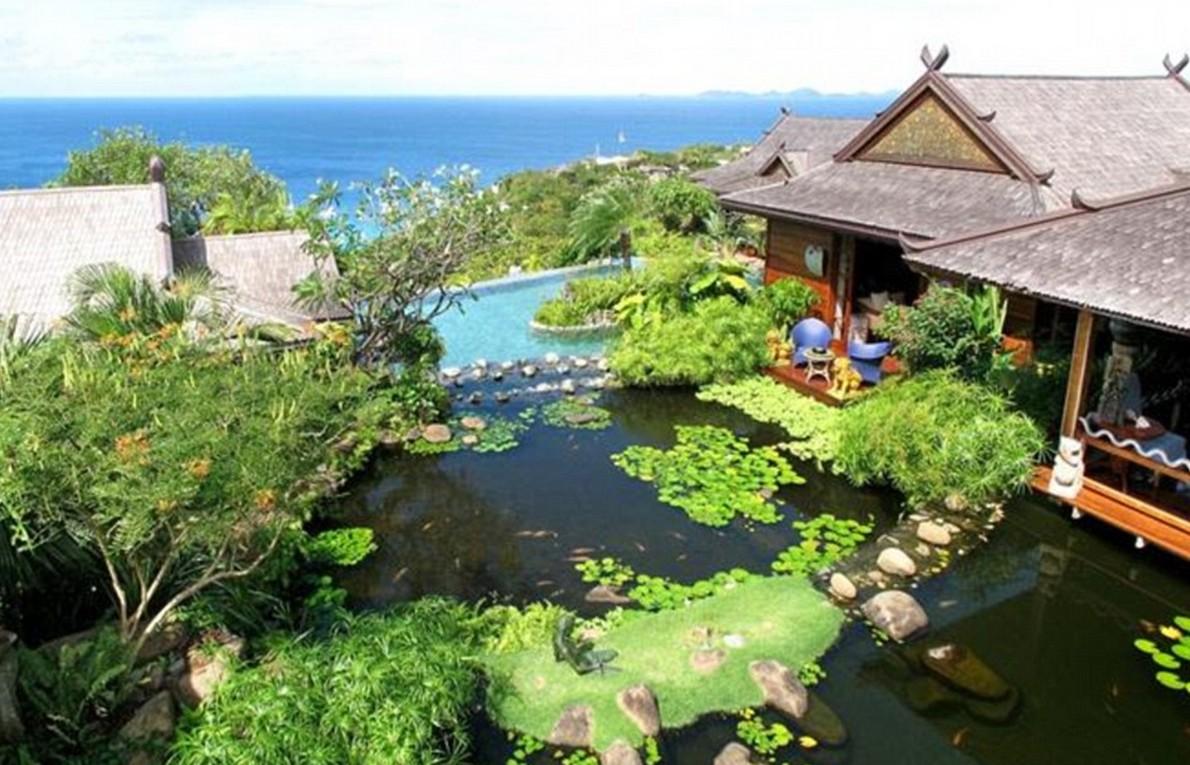 La spettacolare vista della casa caraibica