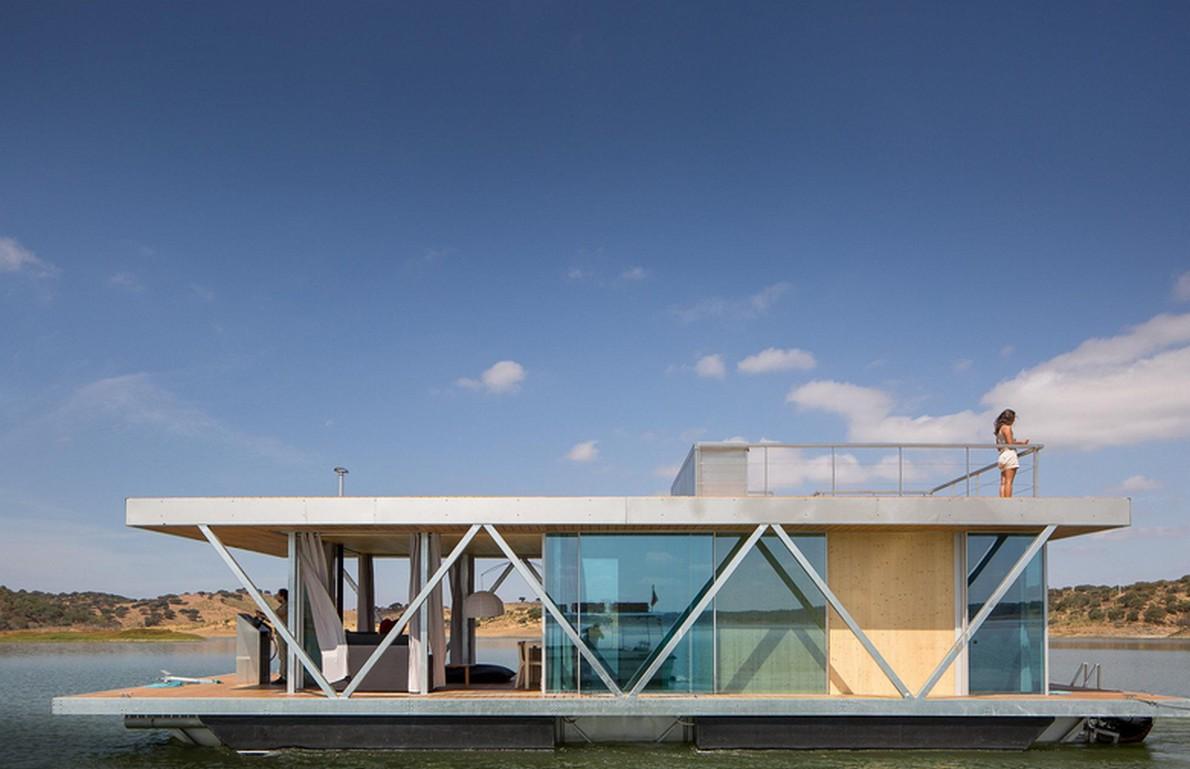 La casa galleggiante di design