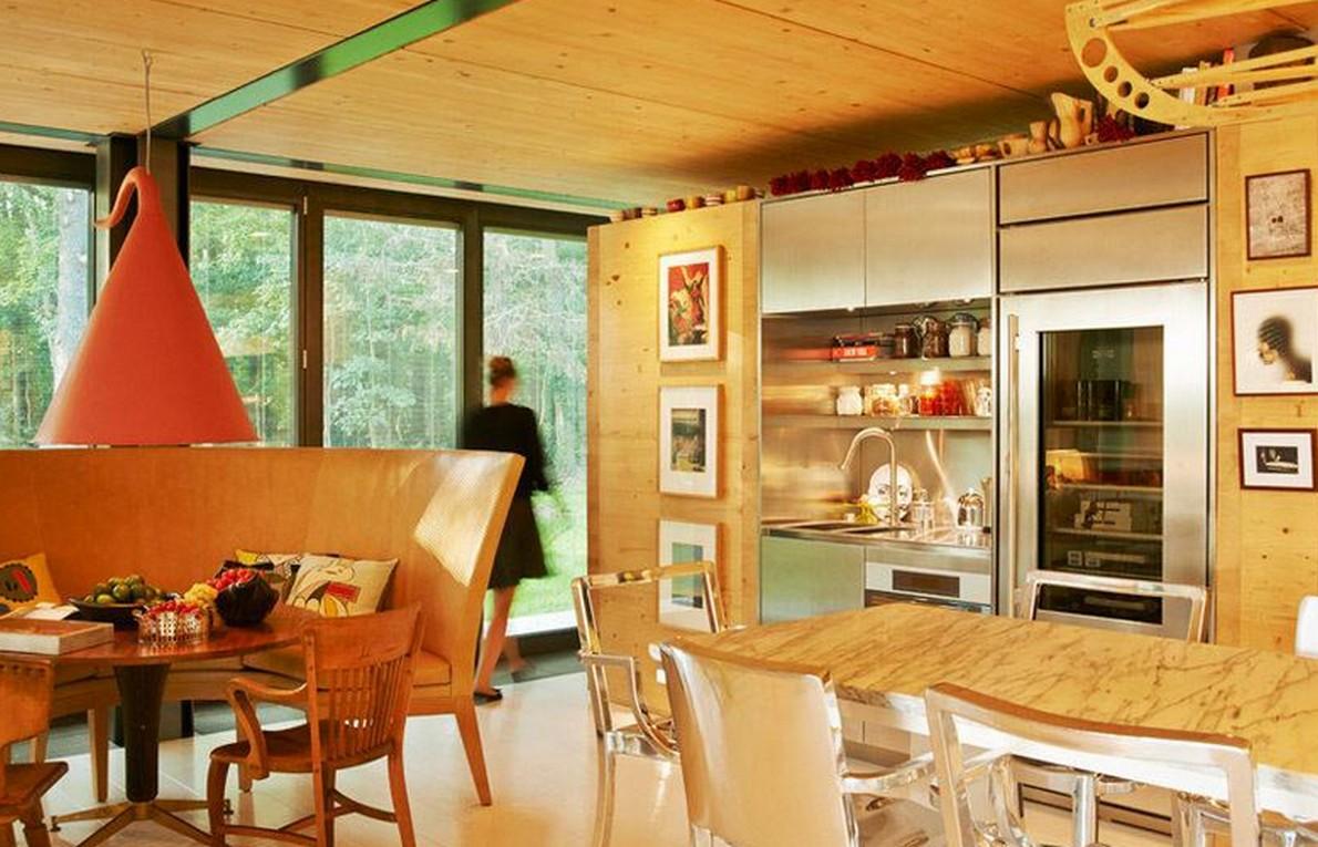 La cucina della casa prefabbricata