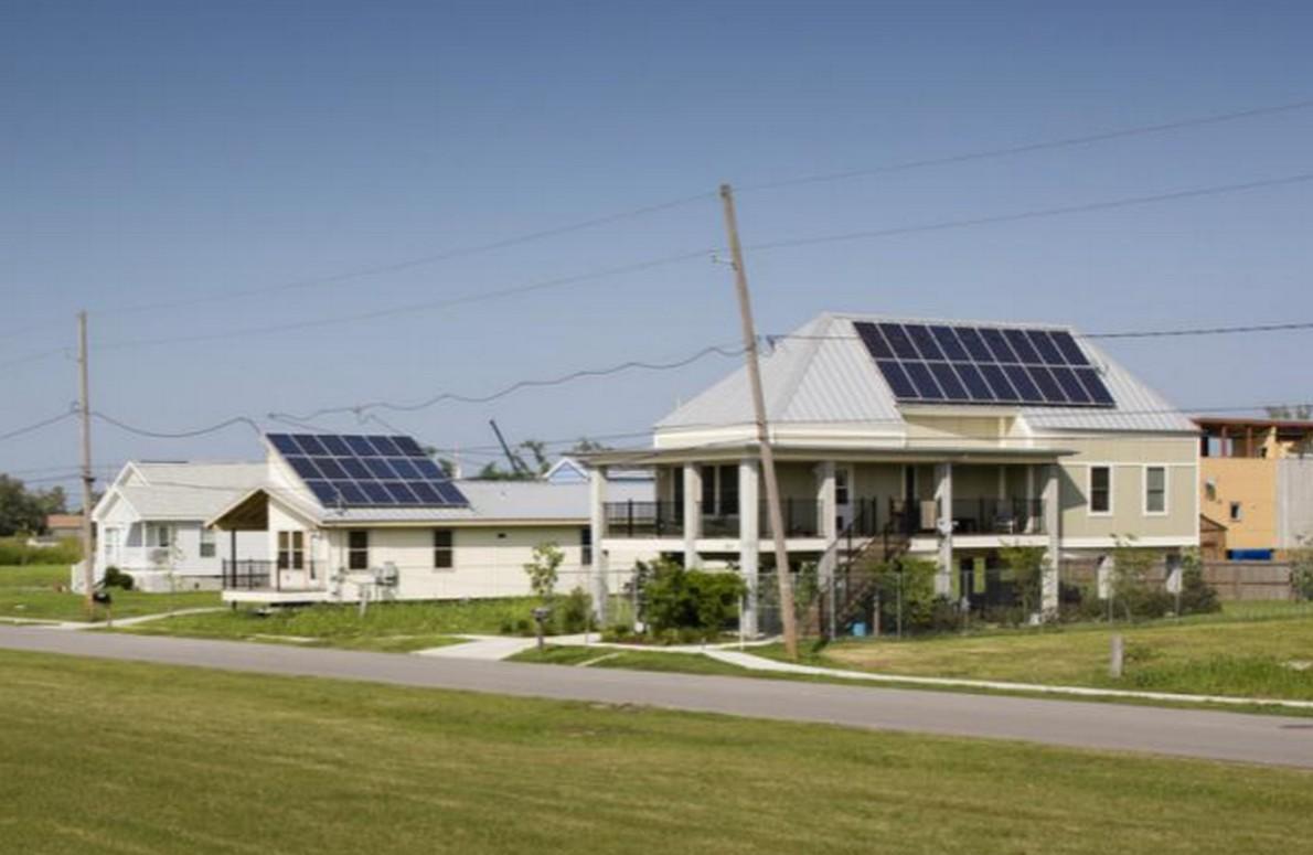 Case con pannelli solari