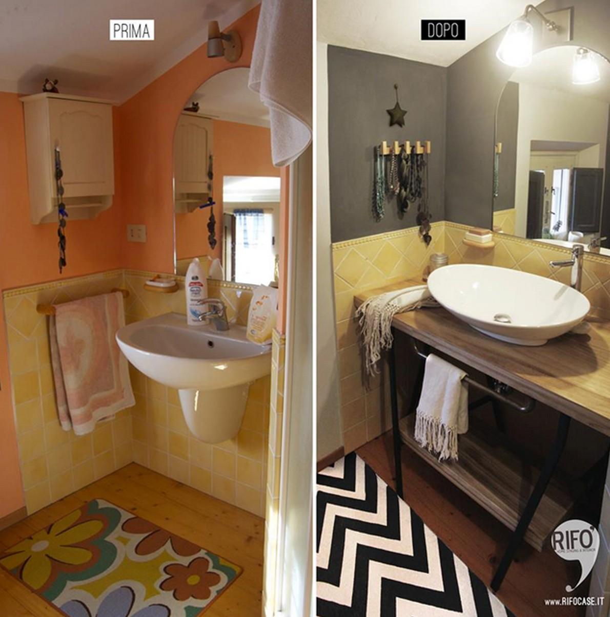 Come ritoccare il bagno senza spendere una fortuna foto - Idee per lavabo bagno ...