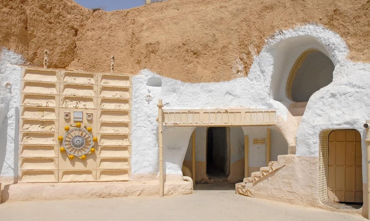Hotel ispirato alle case del pianeta Tatooine