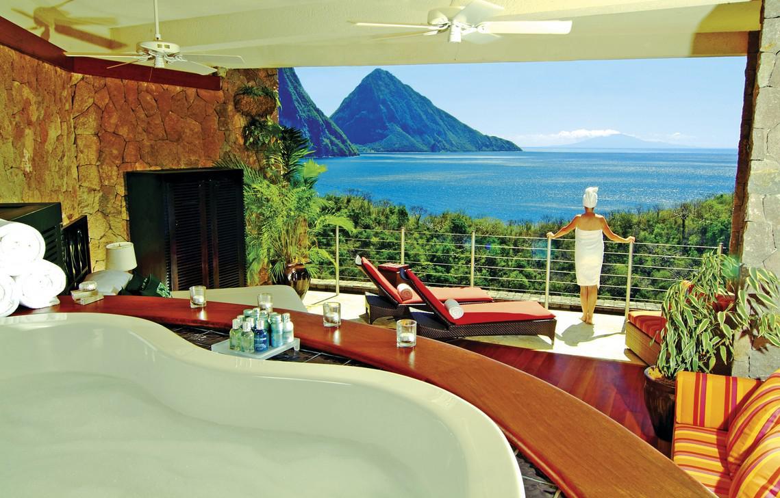 Una foto del paesaggio caraibico