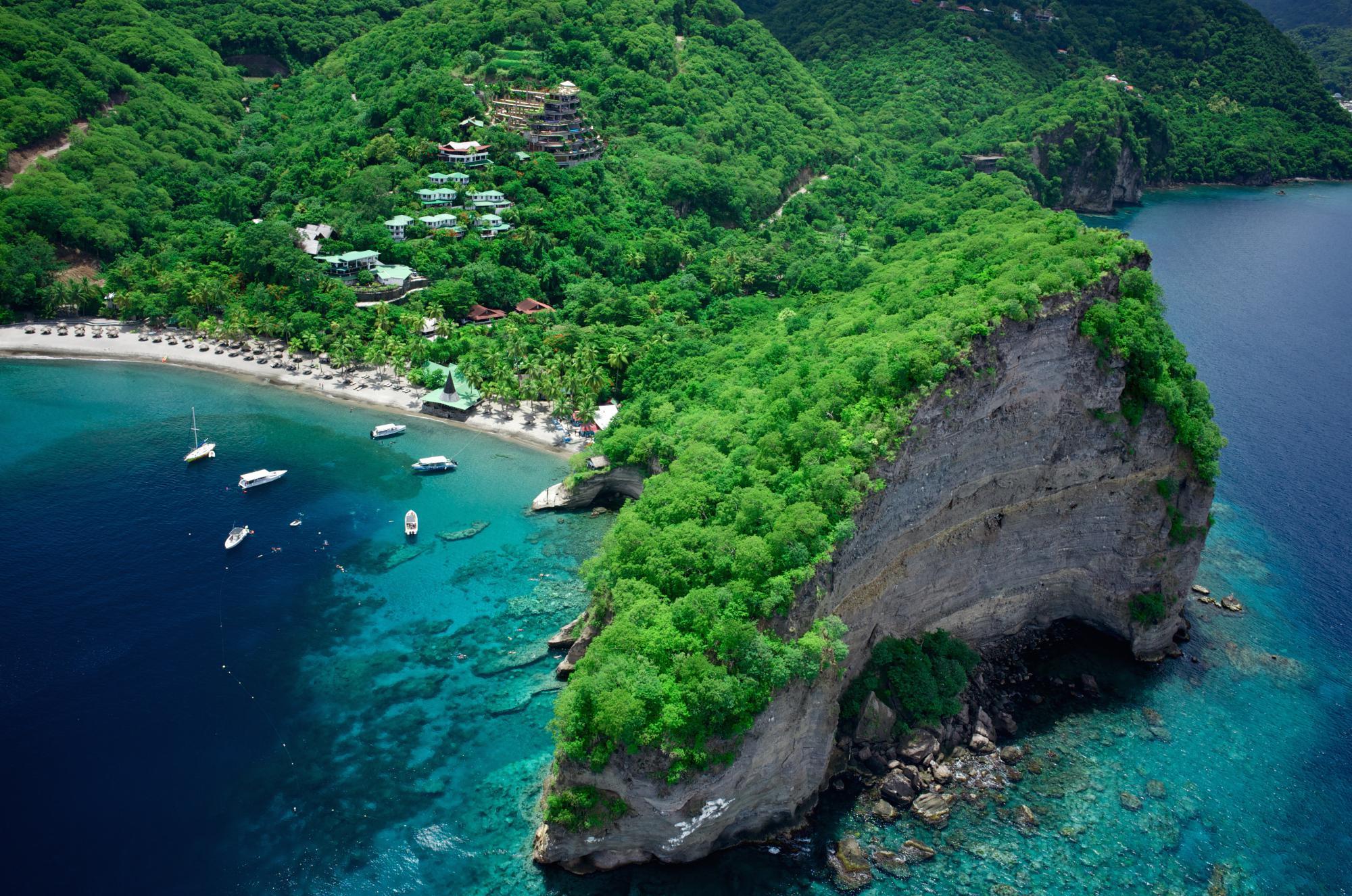 L'isola di Santa Lucia nei Caraibi