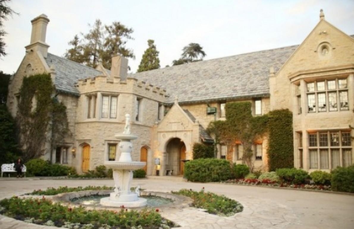 La villa di Hugh Hefner, fondatore di Playboy