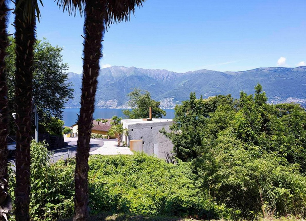 La vista dalla casa a Caviano, in Canton Ticino