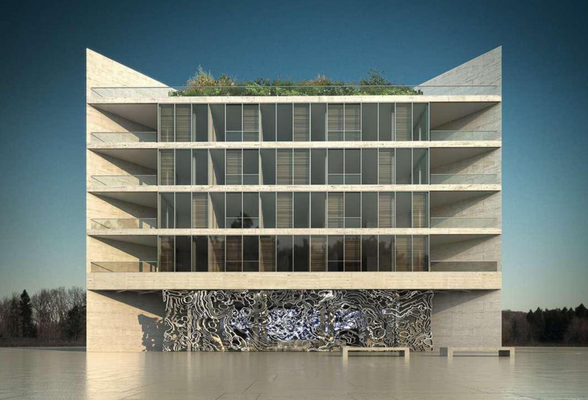 10 edifici multicolor che riflettono la geometria della for Architetti famosi moderni
