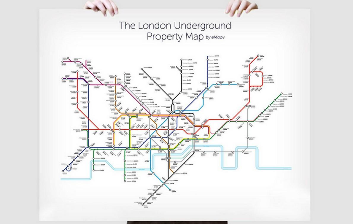 La mappa della metropolitana di Londra