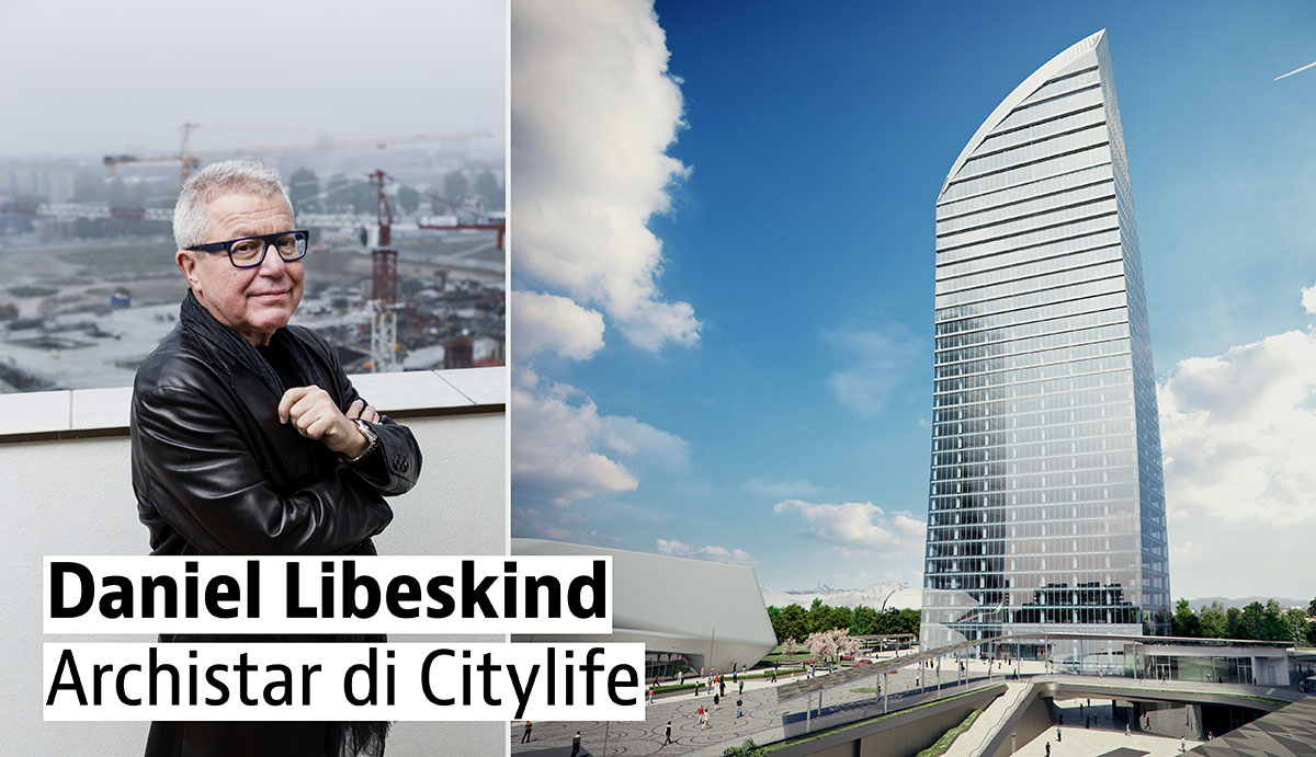 Daniel Libeskind e una delle sue opere