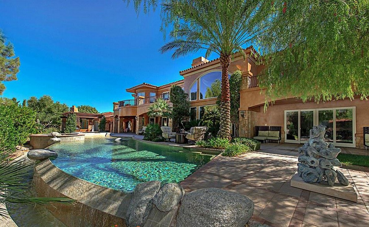 La villa del famoso pugile a Las Vegas