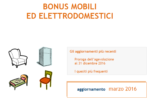 Bonus mobili 2016 la guida aggiornata a marzo dell for Bonus arredi agenzia entrate