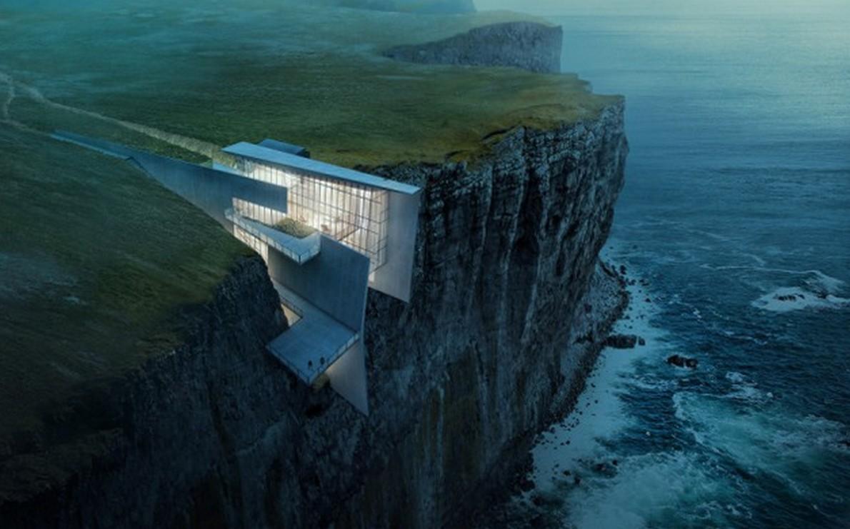 Casa sospesa sull'oceano
