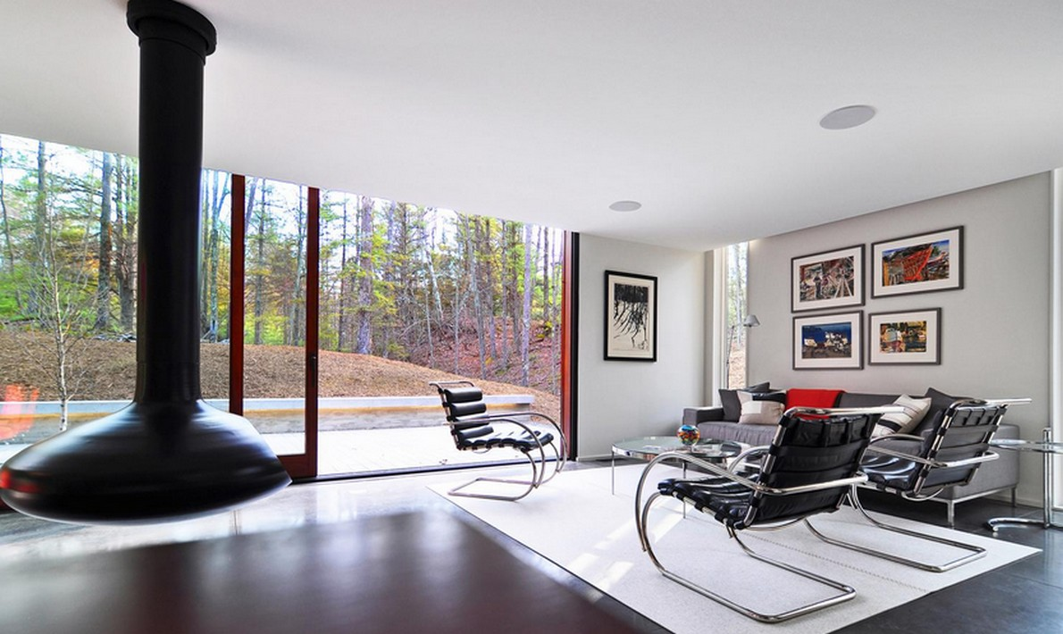 Casa di campagna progettata da Johnsen Schmaling Architects