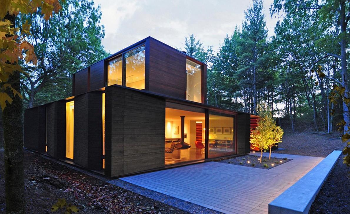 Casa di design nella natura