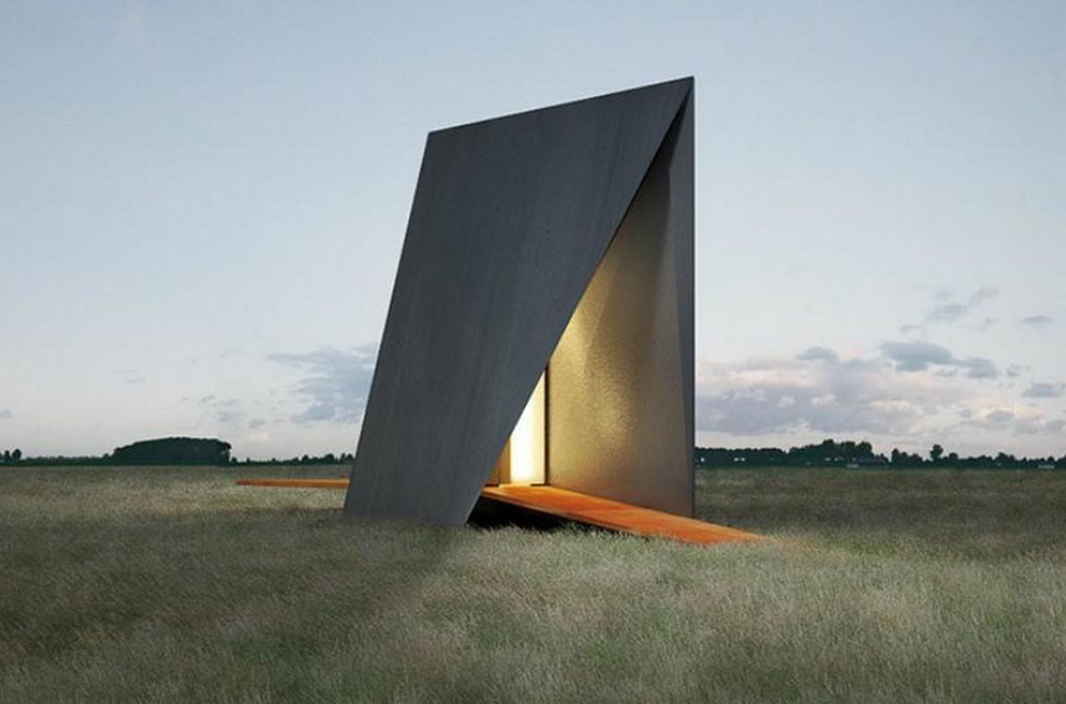 Cappella minimalista progettata dall'architetto Predrag Vujanovic