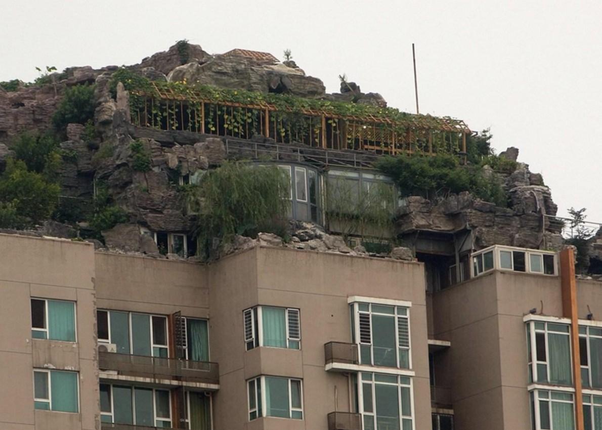 Casa sulla roccia in Cina