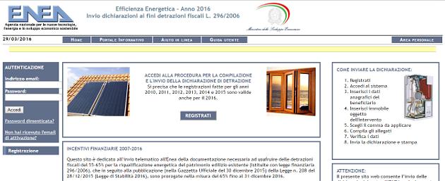 Invio documentazione enea risparmio energetico online il for Enea detrazioni fiscali 2016