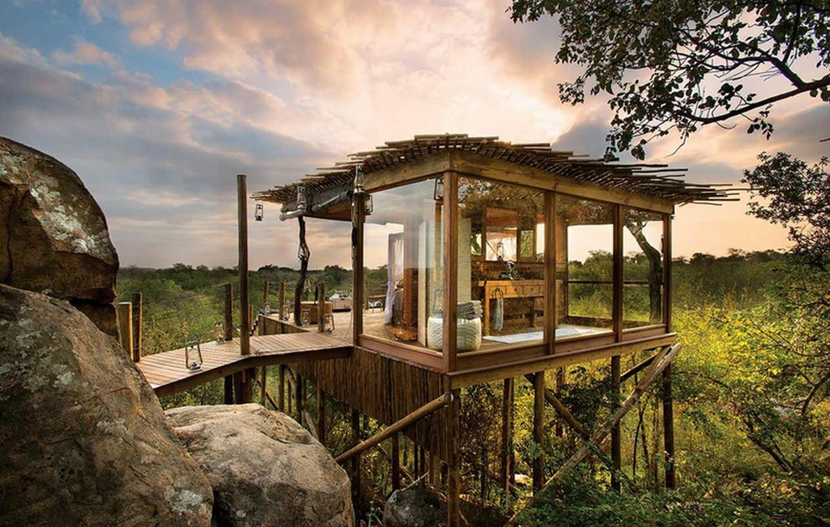Resort nella riserva africana
