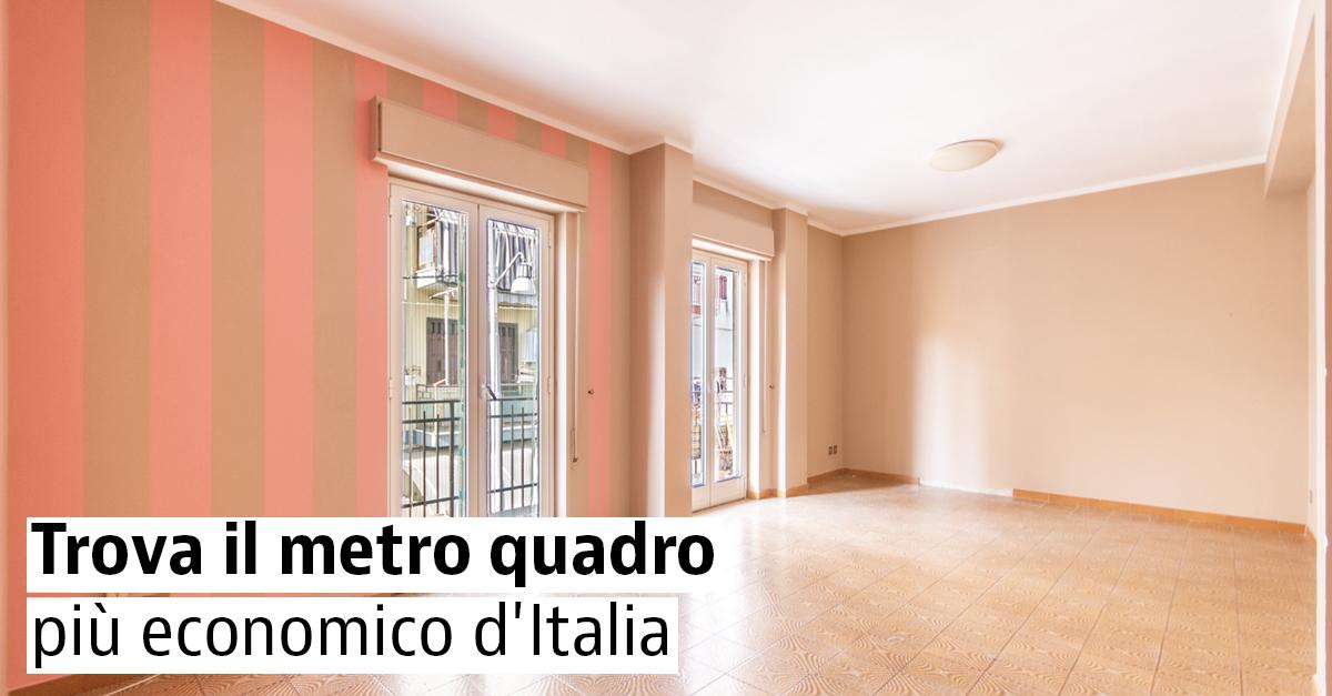 Le case con il miglior prezzo al metro quadro