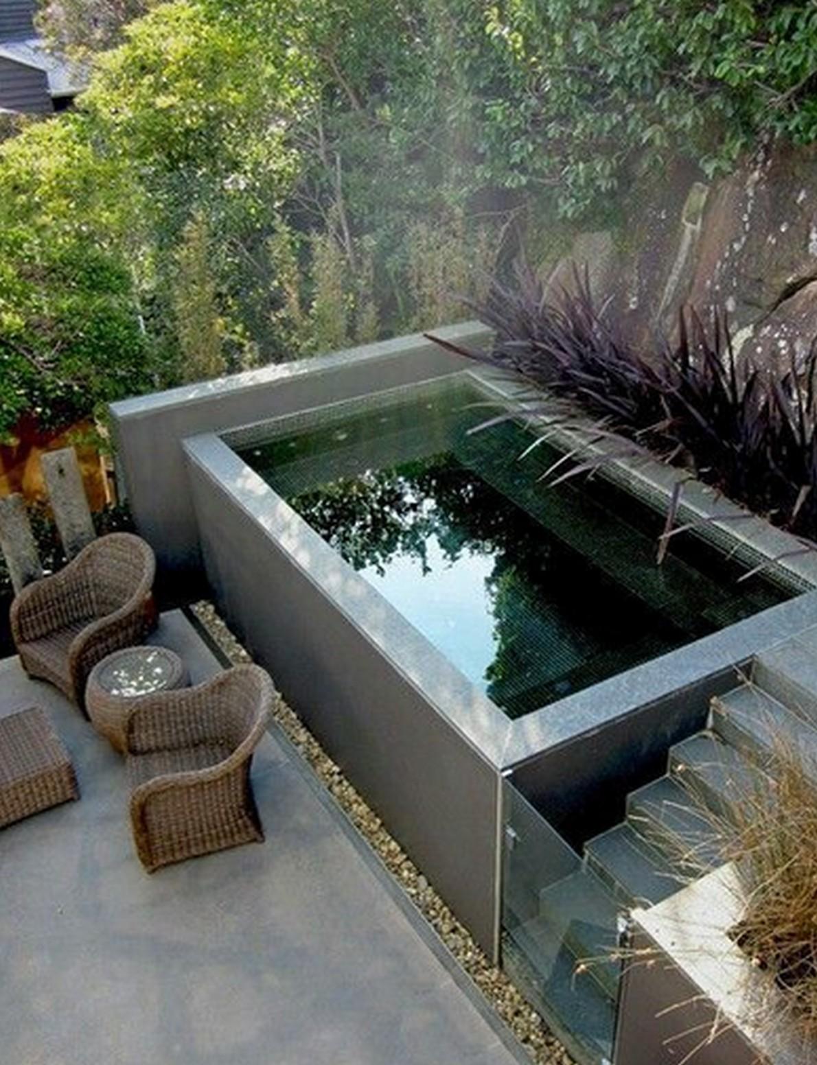 20 spettacolari mini piscine ecco come avere una - Piscina interrata piccola ...
