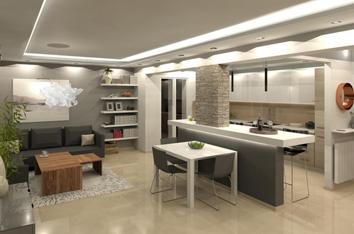 Cucina e soggiorno in un unico ambiente casafacile