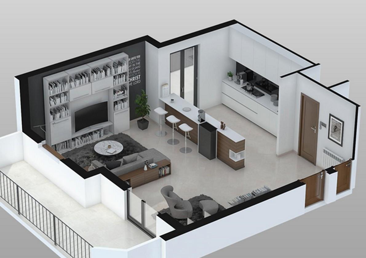 Cucina e soggiorno open space foto design mag