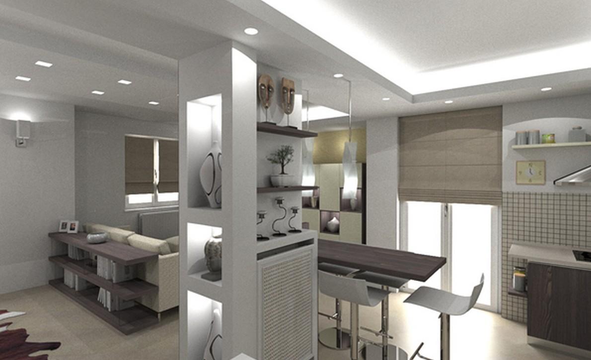 Parola d 39 ordine open space alcune interessanti idee per for Cucina open space con pilastri