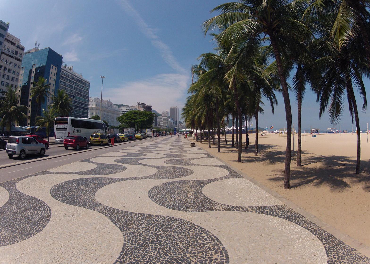 Copacabana Beach promenade by Roberto Burle Marx, 1970