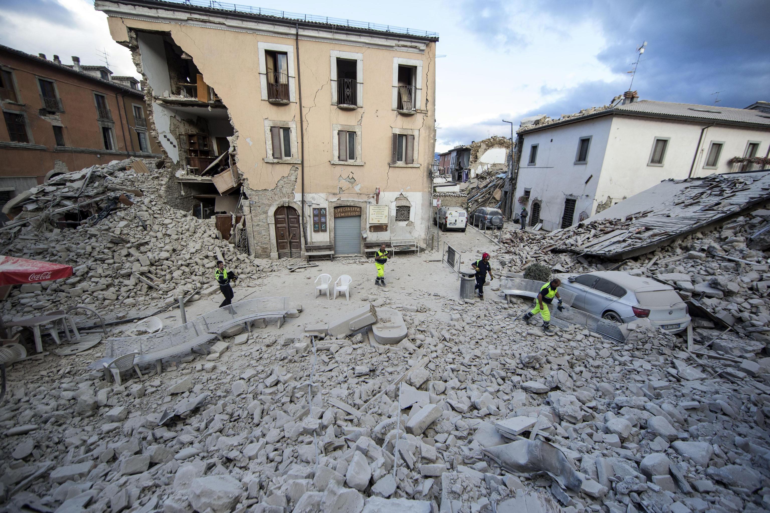 Terremoto in Centro Italia, Abi: