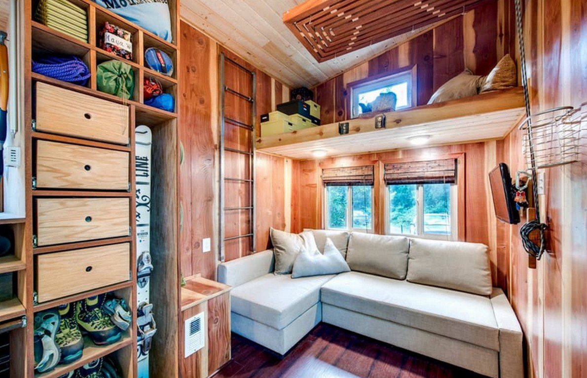 Sfruttare gli spazi una minicasa di 18 m2 dove vivono for Mini case interni