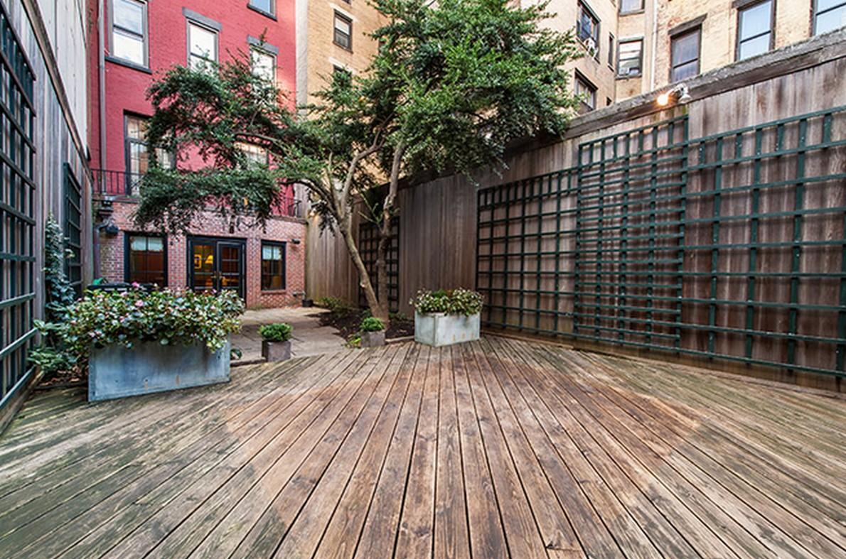 La terrazza dell'appartamento appartenuto a Henry Fonda
