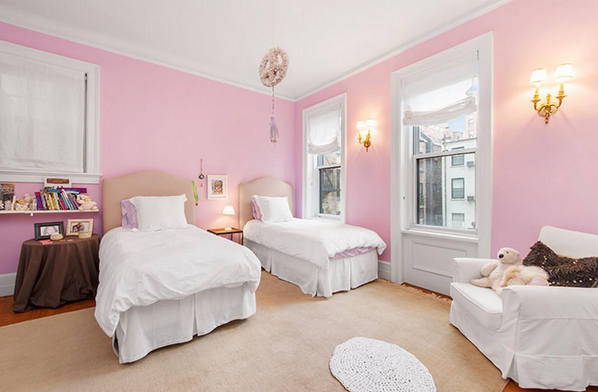 Una camera da letto dell'appartamento appartenuto a Henry Fonda