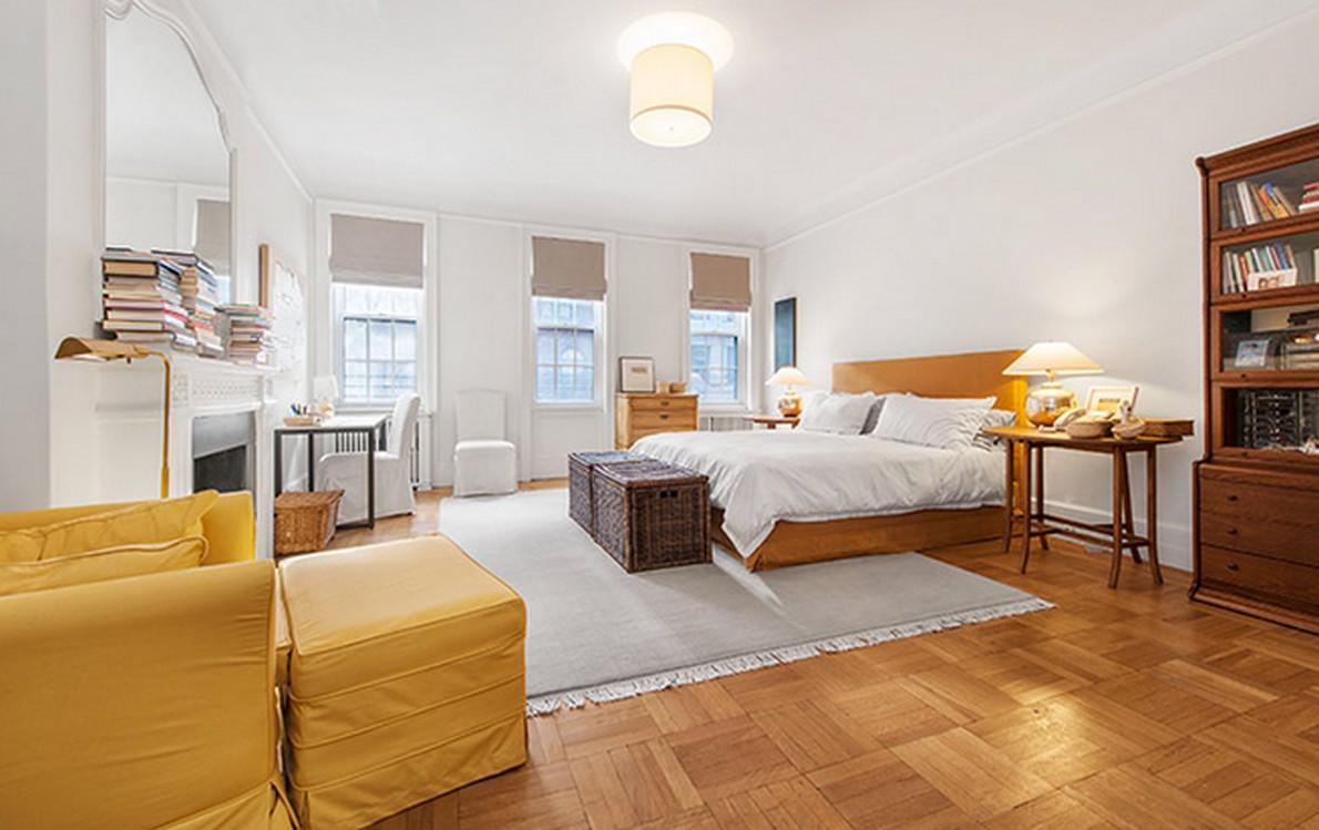 Una camera da letto matrimoniale dell'appartamento appartenuto a Henry Fonda