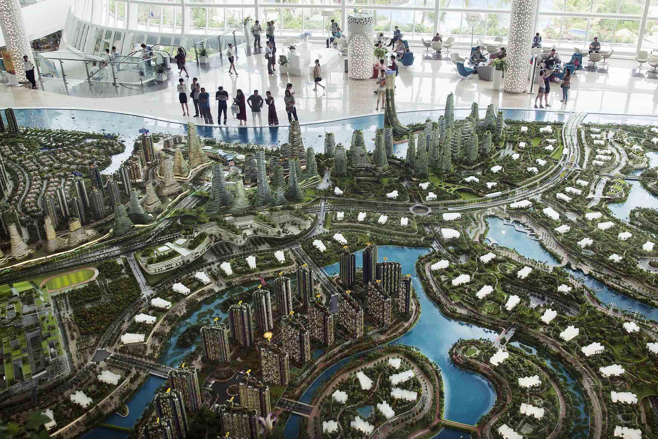 "Progetto ""Forest City"" in Malesia. Ore Huiying/Bloomberg / Ore Huiying/Bloomberg"