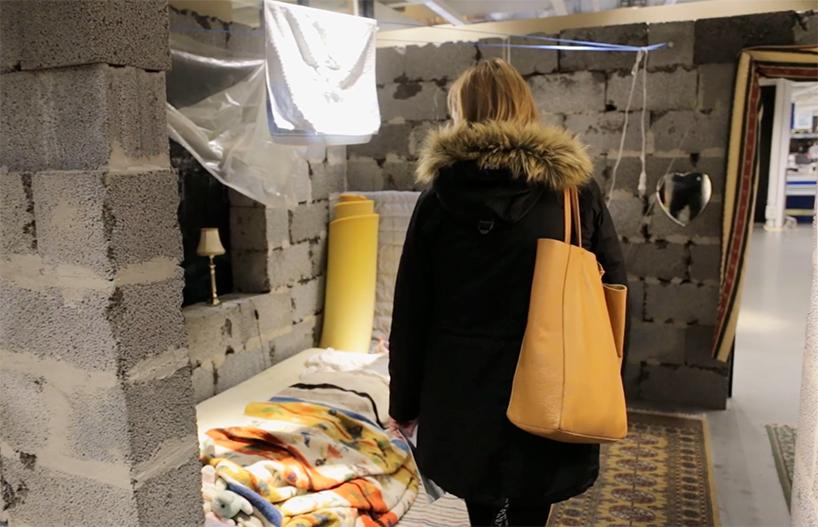 La casa siriana riprodotta da Ikea