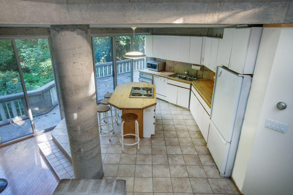 La cucina vista dall'alto