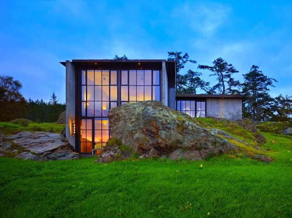 Concrete House, San Juan Islands, Seattle. (Olson Kundig Architects)