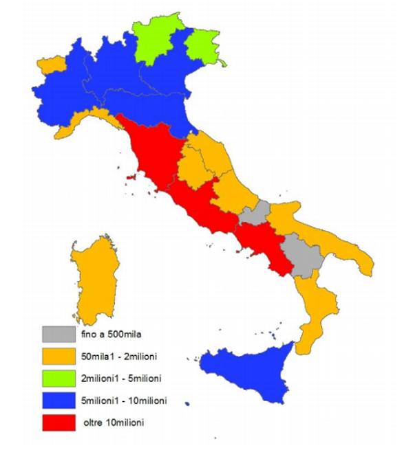 Immagine del giorno i musei italiani per numero di for Numero deputati e senatori italiani