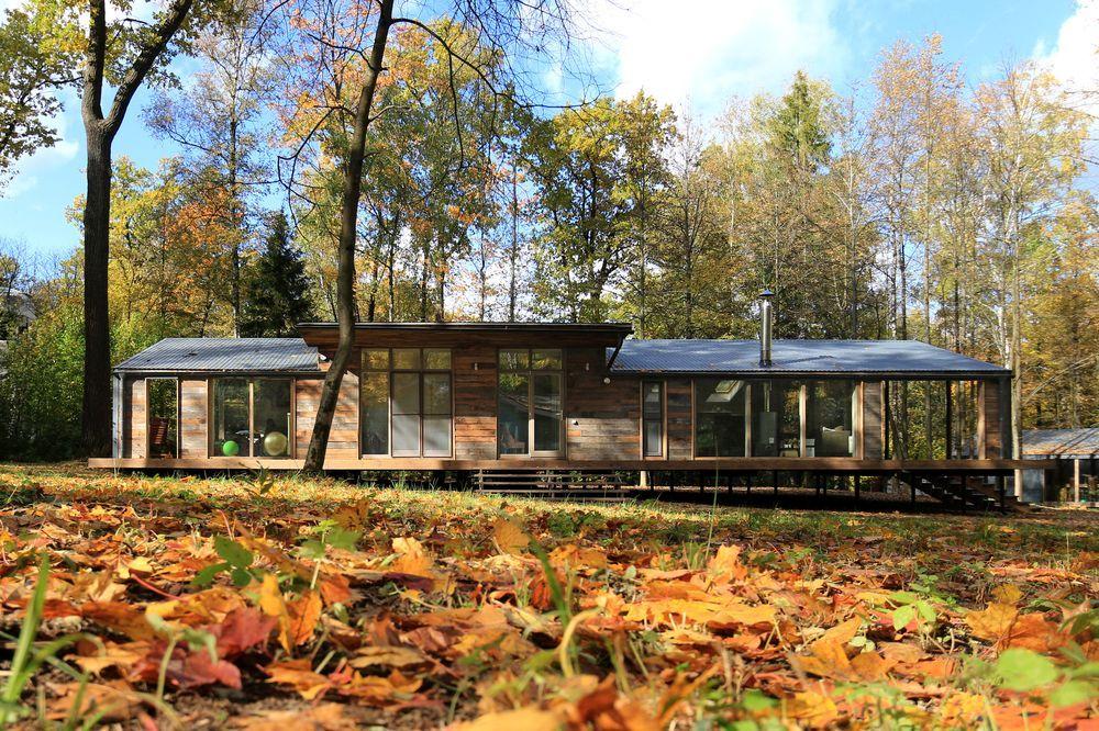 Una capanna di lusso nel bosco